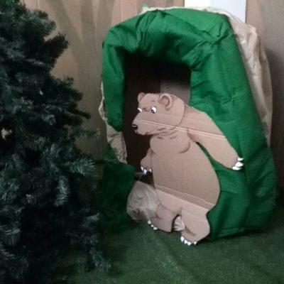 Finalmente ecco la tana dell'orso.. ma che paura! Tutti a casa!