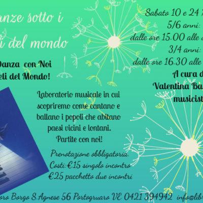 DANZE SOTTO I CIELI DEL MONDO 3-6 ANNI